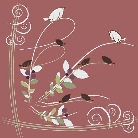 lovely birds Vector