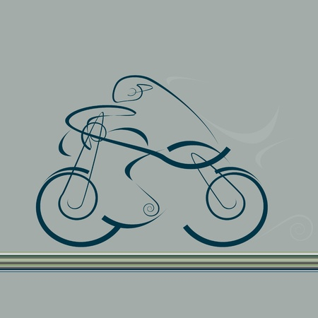 speedy motorcycle Illustration