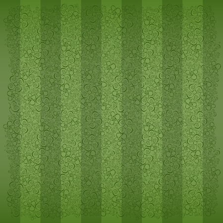 fine green striped background with flowers and butterflies  Vector