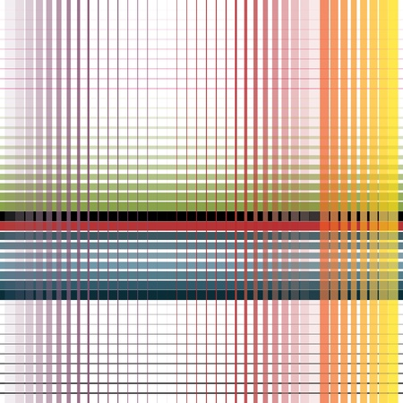 striped lines: finas rayas abstractas de colores sobre fondo blanco Vectores