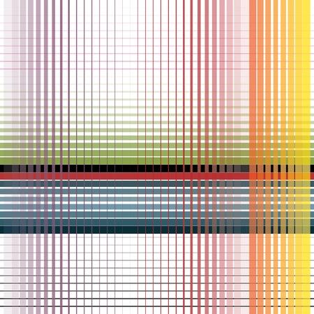 horizontal lines: finas rayas abstractas de colores sobre fondo blanco Vectores