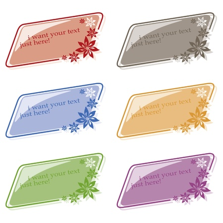 nice set of colored labels for various use Vector