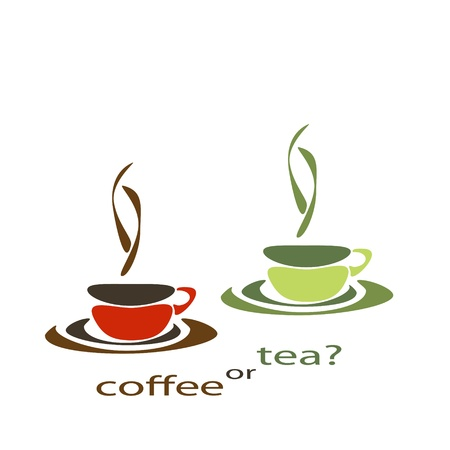 alcoholic beverage: two nice simple cups for tea and coffee