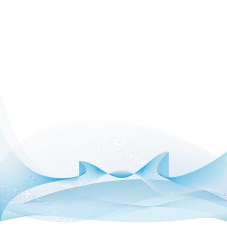 fine abstract blue waves on white background  Illusztráció