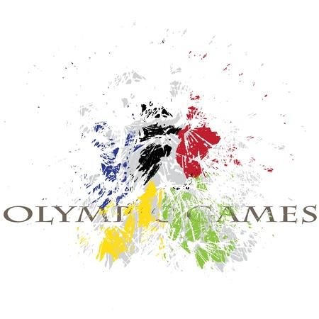 deportes olimpicos: buena imagen con la explosión agradable de colores olímpicos