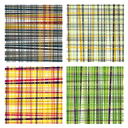lineas verticales: agradable conjunto de retro a rayas de colores fondos Vectores