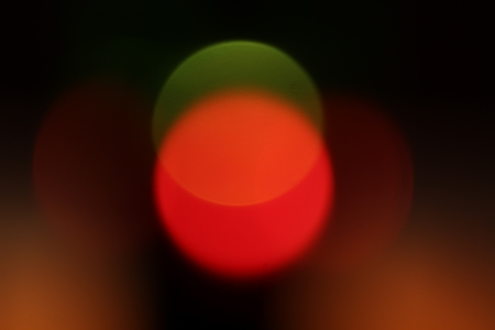 fine abstract image of red and green defocused lights photo