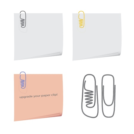 nice image of isolated reminders with original paper clips