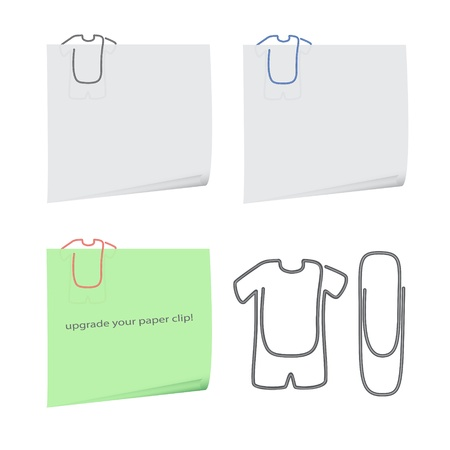 nice image of isolated reminders with new paper clips Illustration