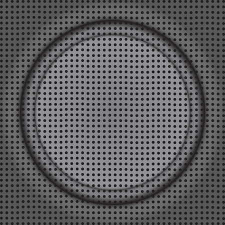 fine abstract image of rounded frame on modern speaker texture Vector