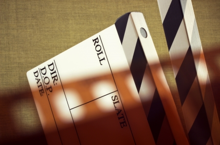 fine old style image of clapboard with film  photo