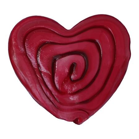 lizenzfrei: neue Lizenzfreier Illustration mit Herz-Symbol auf wei�em Hintergrund