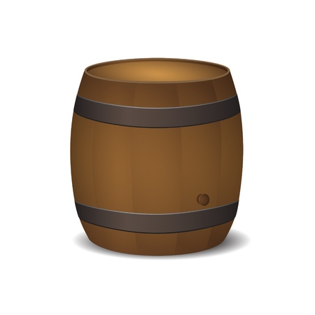 new royalty free icon of old style barrel isolated on white background Stock Vector - 16195149