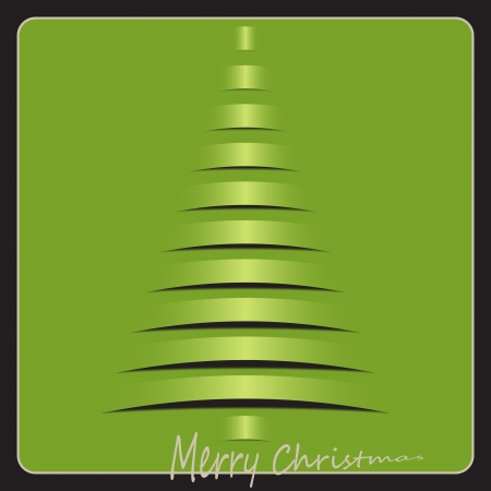 lizenzfrei: neue royalty free Bild der klassischen Winter-Baum auf Gru�karte