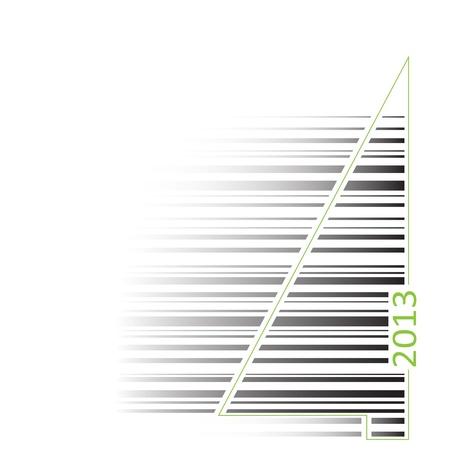 royalty free: illustrazioni royalty nuova connessione con l'albero di codice a barre concettuale isolato su sfondo bianco Vettoriali