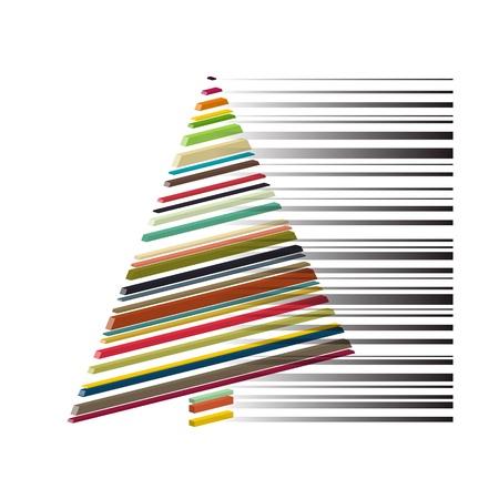 royalty free: nuovo simbolo astratto regalit� libero con albero colorato isolato codice a barre
