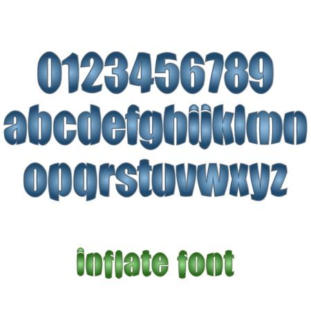 lizenzfrei: neue Lizenzfreie Reihe von Buchstaben und Zahlen k�nnen f�r den Text Illustration