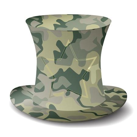 royalty free: nuovo royalty free militare top icona di stile cappello isolato su sfondo bianco Vettoriali