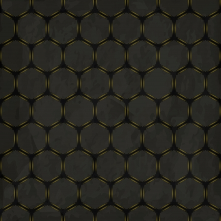 aperture grid: new royalty free abstract background with honeycombs on grunge background Illustration