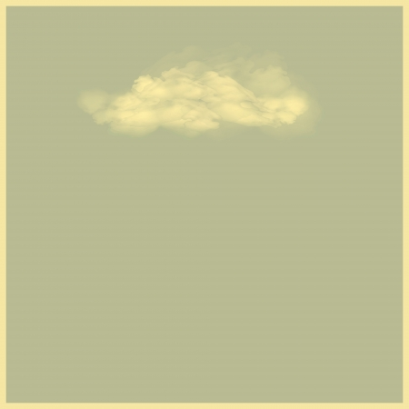new royalty free illustration of single cloud on gray background  Stock Vector - 16580213