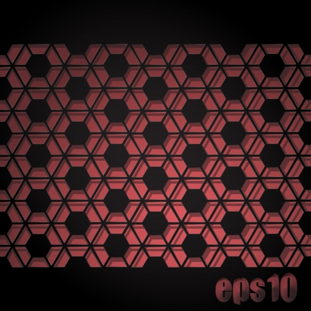 new abstract modern grill with honeycomb cells on pink background Stock Vector - 17144292