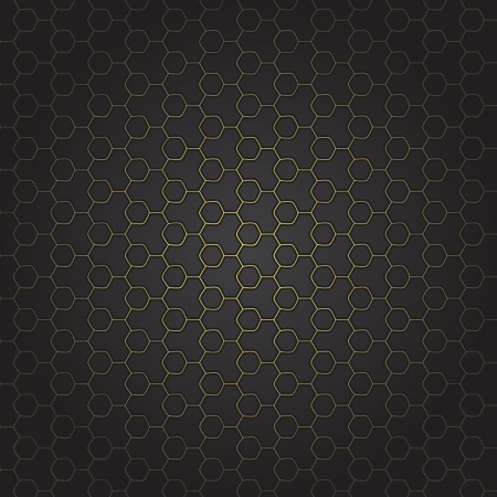 new seamless pattern with golden grid on black background Illustration