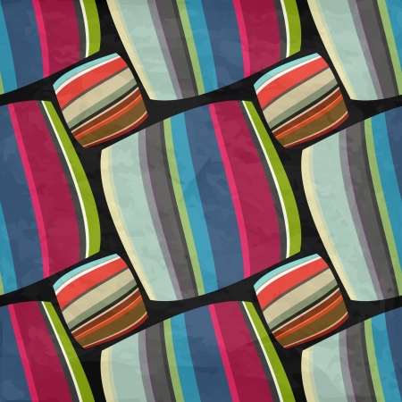 new abstract background with striped squares can use like vintage wallpaper Illustration