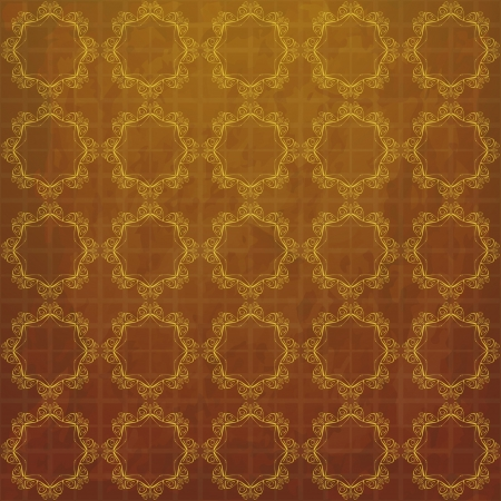 new vintage style background with golden decorative elements can use like elegant wallpaper Stock Vector - 17626926