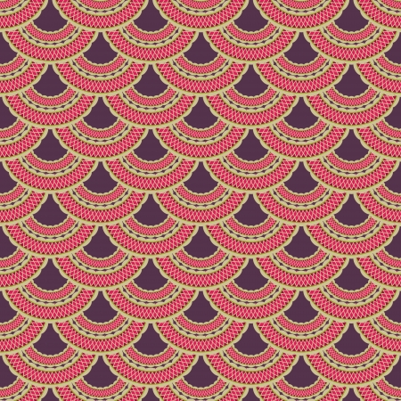 new ornamental seamless pattern with old style elements can use like vintage background Vector