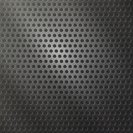 new modern background with perforated metal can use like industrial wallpaper Vector