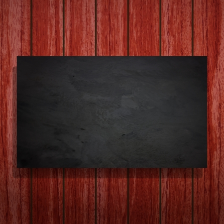 new abstract black frame on wooden background can use to place your image or text Stock Vector - 18357208