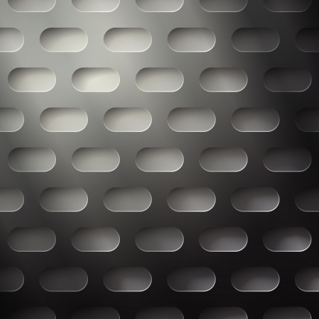 reticular: new seamless pattern with metallic perforated grid can use like technology background