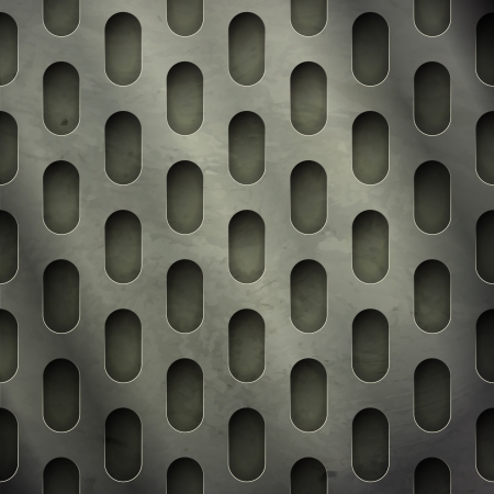metal grate: new abstract textured background with perforated metal grate can use like industrial wallpaper Illustration