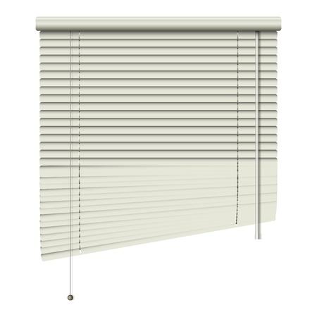 nieuwe open huis gerelateerde blinds op een witte achtergrond kan gebruiken als modern object