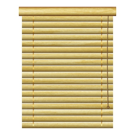new horizontal louvers with natural wood planks can use for vintage indoor design Vector