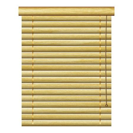 nieuwe horizontale lamellen met natuurlijke houten planken kunt gebruiken voor vintage indoor ontwerp Vector Illustratie