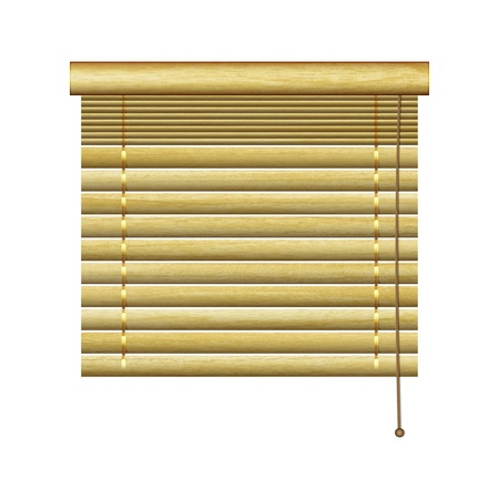 new horizontal louvers from natural wood planks can use for retro indoor design Vector