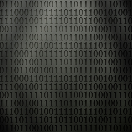 new futuristic background with perforated binary code on metalic wall Stock Vector - 19189351