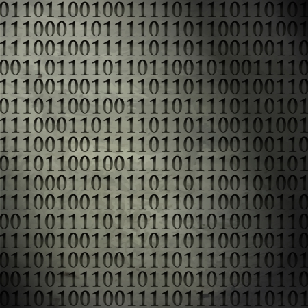 new abstract background with binary code can use like modern technology wallpaper Stock Vector - 19189355