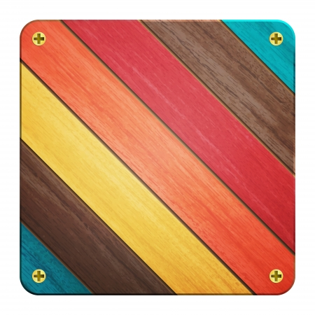new wooden icon with colored planks can use like natural background Vector