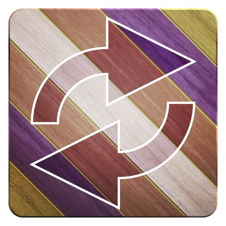 new wooden button with arrows symbol can use like modern design icon Vector