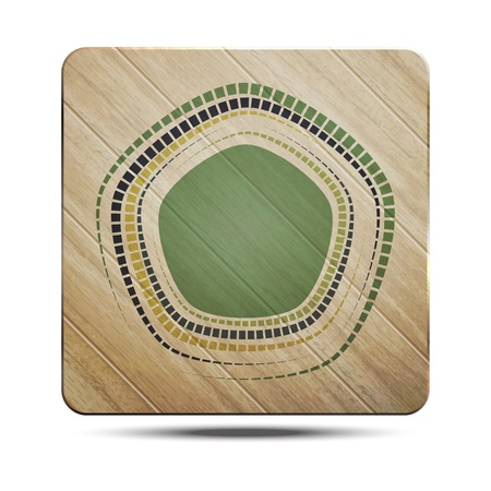 new wooden board with green target can use like conceptual background Stock Vector - 20673901