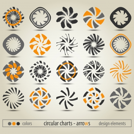 new collection of circular charts can use like modern design elements Illustration