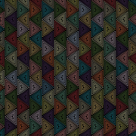 new seamless pattern with colorful ornament can use like retro style background