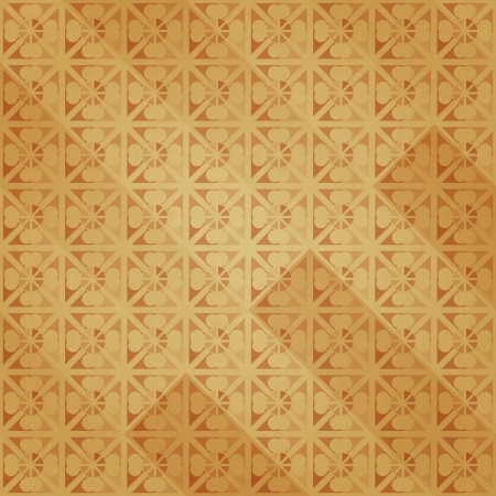 new retro style wallpaper with abstract flowers on paper texture can use like background Vector
