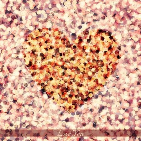 glisten: new colorful heart symbol and glisten petals   Illustration