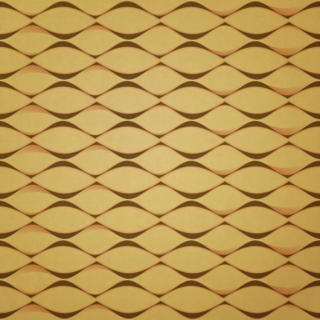 vintage paper: new seamless pattern with abstract waves on cardboard texture can use like wallpaper Illustration