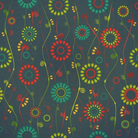 new seamless pattern with colorful flowers can use like vintage background Vector