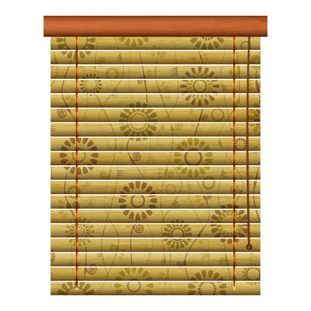 concealment: new isolated icon of wooden venetian louvers can use like traditional object Illustration