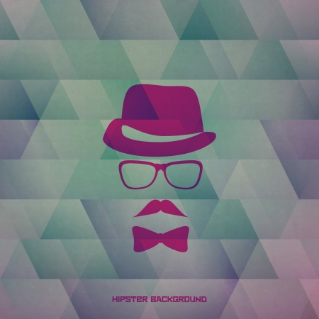 new textured wallpaper and set of hipster accessories can use like trendy symbol Vector